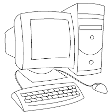 computer coloring pages printable computer para colorear with