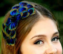 peacock headband feather headband lovmely