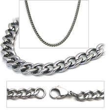 titanium curb chain necklace images 2 8mm titanium men 39 s curb link necklace chain jpg