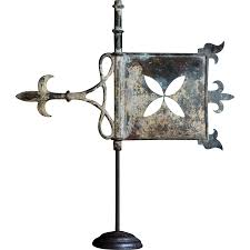 Design For Antique Weathervanes Ideas Antique Copper Weathervane 19th C Bannerette Banner