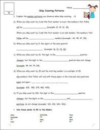 skip counting by 2 5 10 25 100 patterns and number line worksheet
