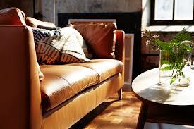 stockholm three seat sofa seglora dark brown stockholm ikea