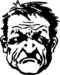 free vector graphic angry man grumpy frown angered free