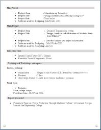 mechanical resume resume format for mechanical engineer fresher resume format