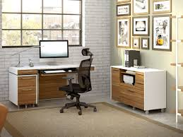 nickel plated desk l format modern furniture in los angeles