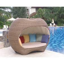 canapé de jardin canapé de jardin pomme en résine tressée achat vente chaise
