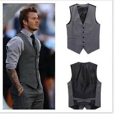 mens wedding custom made 2016 mens wedding vest hot sale design grey groom