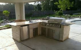 outdoor kitchen island houston tx outdoor kitchen by the pool