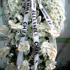 funeral flowers delivery sympathy stand tripod cebu only flower shop in cebu cebu