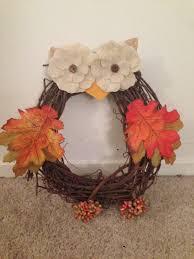 diy owl wreath super easy and fun project diy fallcrafts owls