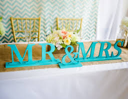 mr and mrs wedding signs teal hawaii style wedding trends 2014 2 15 wedding