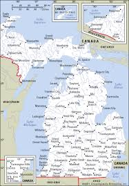 map of michigan michigan maps and state information