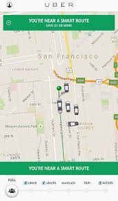 Bus Map San Francisco by Uber Tests Bus Style Discounted U201csmart Routes U201d Techcrunch