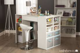 south shore craft table south shore crea counter height craft table with storage pure white