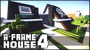 Frame House Minecraft Modern A Frame House 4 Youtube
