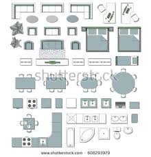 and bathroom floor plans set top view interior icon design stock vector 608293979