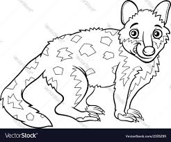 tiger quoll animal coloring book royalty free vector image