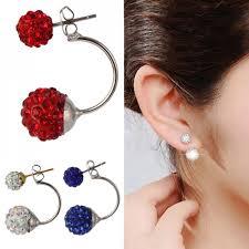 sided earrings sided 360 statement earrings
