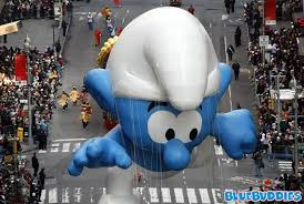 macy s thanksgiving day parade smurfs bluebuddies