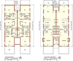 two apartment floor plans foster dale architects