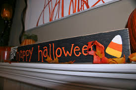 halloween painted sign brady lou project guru