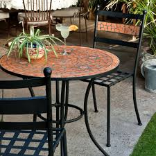 Bistro Sets Outdoor Patio Furniture Coral Coast Terra Cotta Mosaic Bistro Set Outdoor Bistro Sets At