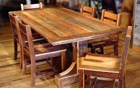 Rustic Wood Dining Room Table Rustic Dining Room Table Sets Best Country Reclaimed Solid Wood