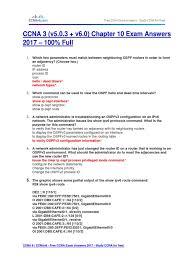 free ccna study guide ccna 3 v5 0 3 v6 0 chapter 10 exam answers 2017 u2013 100 full