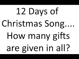 total gifts in 12 days of christmas rainforest islands ferry