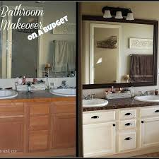Cheap Bathroom Makeover Ideas Inexpensive Bathroom Makeovers Before And After Day Small Bathroom