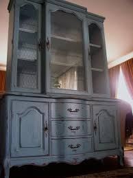 french country hutch in antiqued french blue
