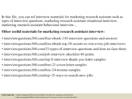 interview questions for marketing job top 10 marketing research assistant interview questions and answers