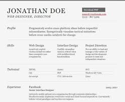 Free Online Job Resume by Winsome Design Html Resume Template 5 25 Free Html Resume