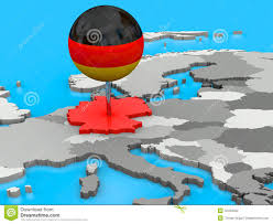 Map Of Germany In Europe by Tallinn Pinned On A Map Of Europe Stock Photo Image 43880006