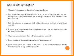 tell about yourself job interview interview self introduction sample sample tour guide speech in