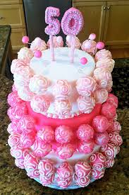 a pretty pop cake stand could be used for a baby shower birthday