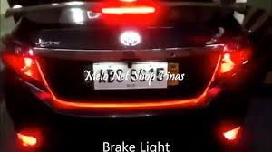12v car trunk brake lamp tail light with sinal lights strip led