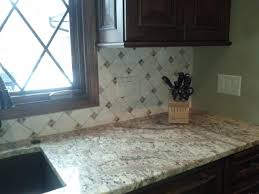 Kitchen Tile Backsplashes Pinwheel Tile Backsplash Shows A Stone Backsplash Installed