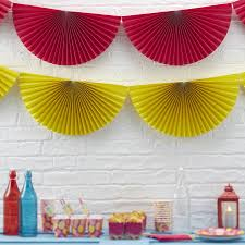 paper fan decorations yellow paper hanging fan decorations by