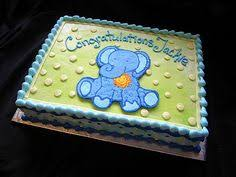 elephant baby shower cake baseball elephant for baby shower 1 4