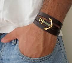 leather bracelet man images Men 39 s bracelet men 39 s anchor bracelet discovered jpg
