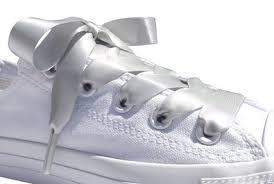 ribbon shoelaces buy silver grey flat satin ribbon shoelaces shoe laces for kids