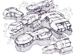 sketch a day 208 spaceships sketch a day sketches by spencer