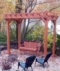 redwood pergola and swing combo foreverredwood com