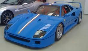 blue f40 unique blue f40 tricolore