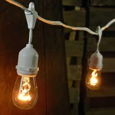 edison light string edison drop string lights 100 ft white wire clear commercial