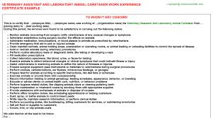 veterinary assistant and laboratory animal caretaker job title docs