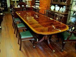 Mahogany Dining Room Tables Reproduction Inlaid Flame Mahogany Dining Table