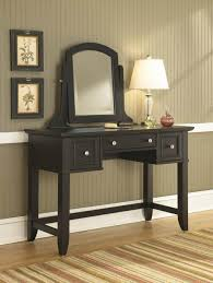 furniture attractive black makeup vanity table featuring mitered