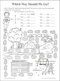 kindergarten worksheets map skills for kindergarten worksheets